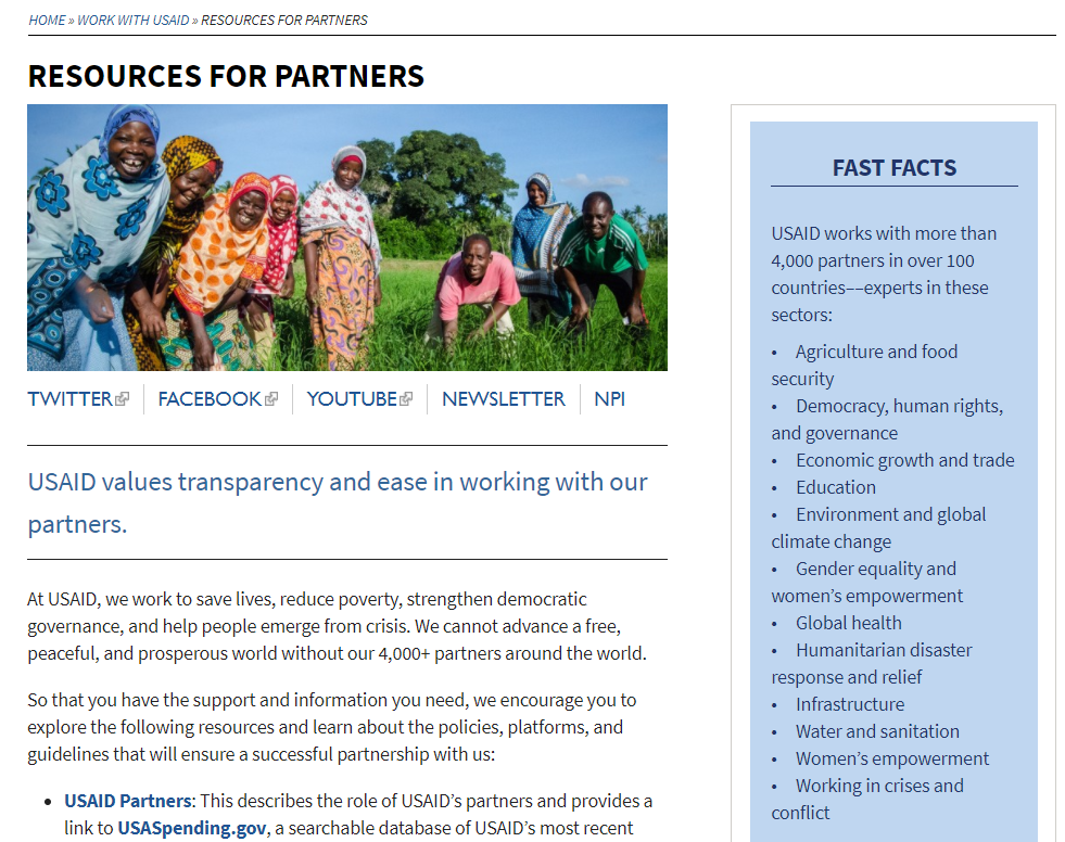 USAID resources for partners